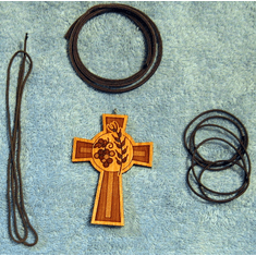 Large Christian Wooden Cross Pendants & Necklaces