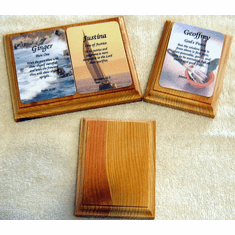 Name Cards Wood Plaques-Walnut