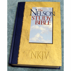 NKJV Nelson Study Bible- Hard Cover Edition