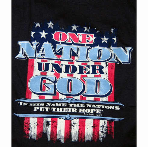 One Nation-Blue T-Shirt-Small