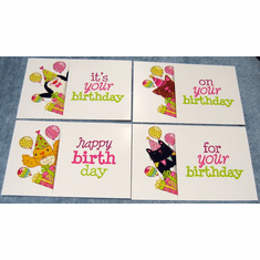 Peek-A-Boo! -12 Children Birthdays Cards