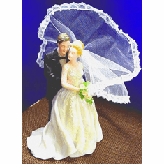 Porcelain Bride & Groom --With Chrysanthemum