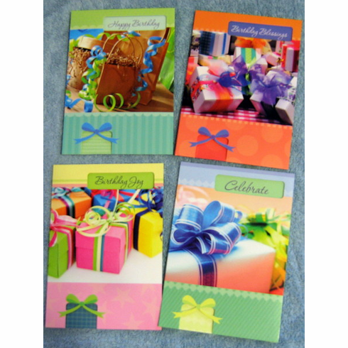 Pretty Packages -12 Birthday Greeting Cards