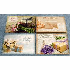 Pretty Packages Plus- 12 Birthday Greeting Cards