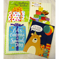 Pretty Packages Two- 12 Birthday Greeting Cards