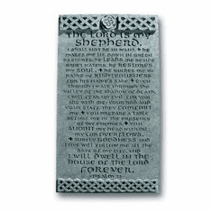 Psalm 23 Celtic Resin Plaque