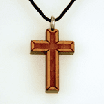 Satin Varnished Cherry Wood Cross-38C