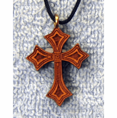 Satin Varnished Cherry Wood  Cross-41K