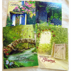 Secluded Comfort Birthday- 12 Greeting cards