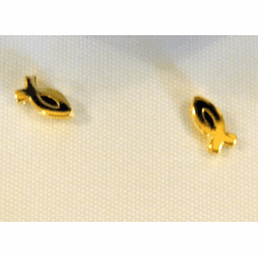 Small Christian Fish Goldplated Earrings