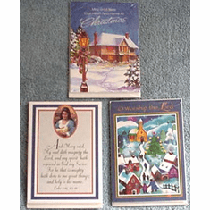 Small Christmas Cards-Two Packs