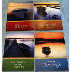 Still Water Birthday- 12 Greeting Cards