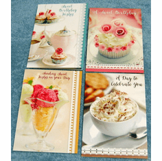 Sweet Birthday Blessings - 12 Premium Greeting Cards