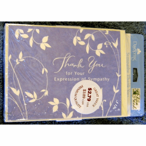 Thank You For Your Expression of Sympathy-10 Notes Cards