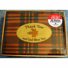 Thank You Notes- Masculine -20  Blank Notes