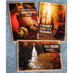 Thanksgiving Blessings- 12 Greeting Cards