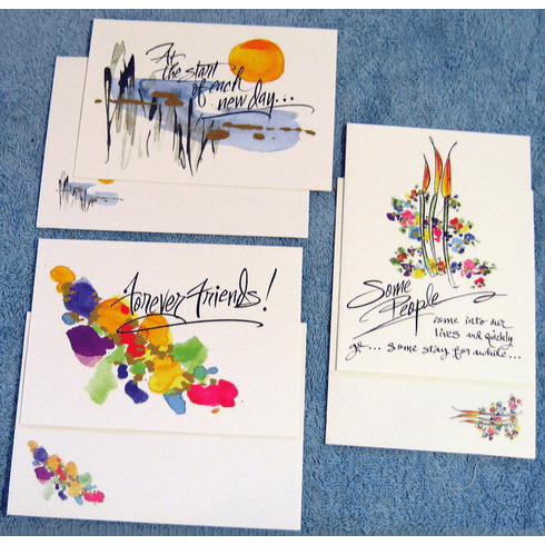 Watercolor Deluxe Friendship - 12 Greeting Cards