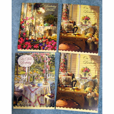 Time For Tea- 12 Premium Birthday Cards