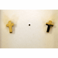 Tiny Goldplated Cross Earrings