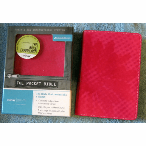 TNIV Ladies Pocket Bible- Italian Duo-Tone, Pink