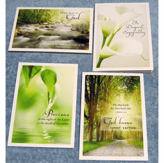 Tranquility Sympathy- 12 Greeting Cards