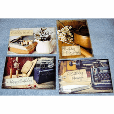 Vintage Birthday- 12 Greeting Cards