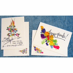 Watercolor Delux Friendship- 8 Greeting Cards