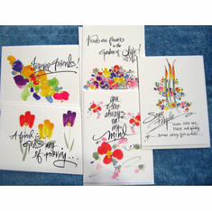 Watercolor Deluxe Friendship Cards – pack of 10