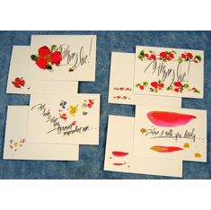 Watercolor Love You-12 Greeting Cards