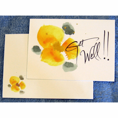 Watercolor premium Get Well Cards – pack of 8