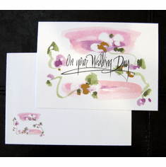 Watercolor Wedding Day Cards-Pk of 8