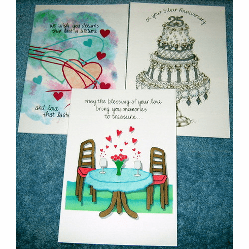 Wedding/Anniversary Selection-10 cards