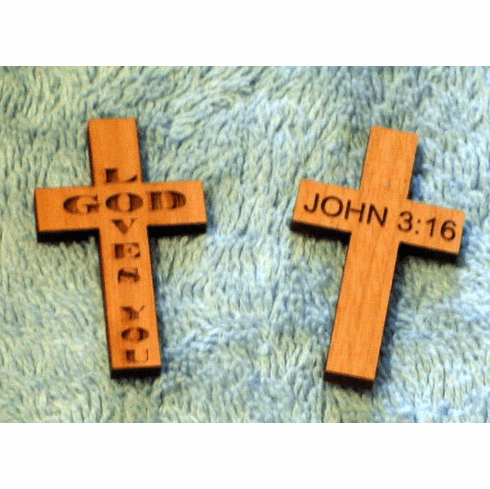 Wood Pocket Crosses-Pack Of 5 | Wholesale Christian Gifts