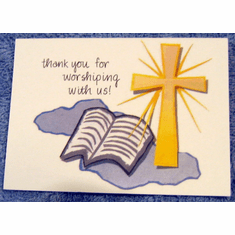 Worshiping With Us-Pack of 25 Notes Cards
