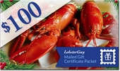 $100.00 LobsterGuy Lobster and Seafood Gift Certificates (Mailed)