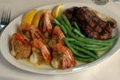 Baked Stuffed Shrimp<br> Surf & Turf Dinner