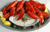Four 1 1/4 lb. Lobsters & Clam Chowder