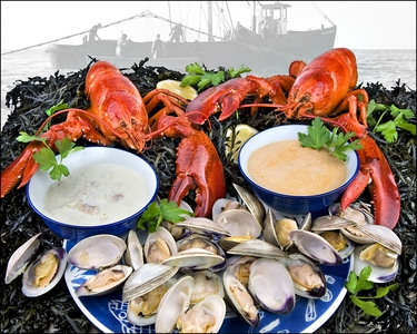 Live Maine Lobster Shore Dinner for Two!