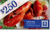 $250.00 LobsterGuy Gift Certificates (Mailed)