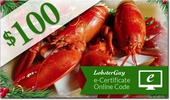 LobsterGuy's<br>$100.00 E-Gift Certificates!