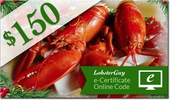 LobsterGuy's<br>$150.00 E-Gift Certificates!
