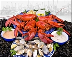 Live Maine Lobster Shore Dinner for Four!<br> With Free Shipping