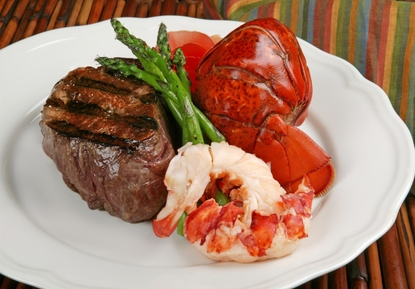 Ultimate Surf & Turf Dinner with Clam Chowder!