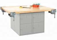 DIVERSIFIED WOODCRAFTS 4-Station Workbench w/vises (Quick Ship)-41