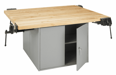 DIVERSIFIED WOODCRAFTS 4-Station Workbench w/vises (Quick Ship)-41 Wt-220/120/180