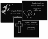 11 x 8.5 Design Your Own Laser-Engraved Plaque Black Granite Memorial