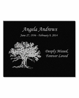 11 x 8.5 Tree of Life Laser-Engraved Plaque Black Granite Memorial