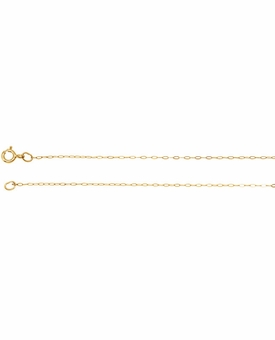 14k Yellow Gold Filled Cable Chain for Memorial Jewelry Pendant Necklace