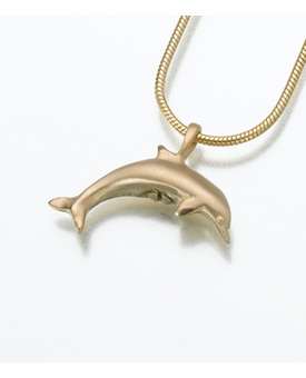14kt Gold Dolphin Cremation Jewelry