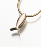 14kt Gold Fish Ichthus Cremation Jewelry